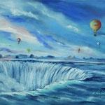 Daniela Neufeld - Ballons über den Niagara Fällen                                      60 x 80 cm