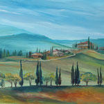 Daniela Neufeld - Toskana L'Amorosa 50 x 70 cm