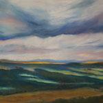 Daniela Neufeld - Burg Teck-Aussicht 60 x 80 cm