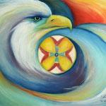 Daniela Neufeld - Im Zeichen des Adlers                                                      60 x 80 cm