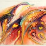 Daniela Neufeld - Delphin-Paar 30 x 50 cm