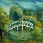Daniela Neufeld - Holzbrücke im Wald                                                          60 x 80 cm
