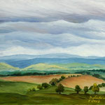 Daniela Neufeld - Rhön-Landschaft IV 40 x 50 cm