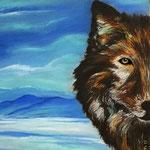 Daniela Neufeld - Einsamer Wolf                                                                  60 x 80 cm
