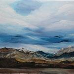 Daniela Neufeld - Berglandschaft Briancon 50 x 60 cm