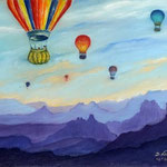 Daniela Neufeld - Ballons über dem Grand Canyon                                     60 x 80 cm