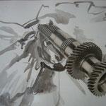 Gemeinschaftsarbeit,  Aquarell, Collage auf Papier, 30x40cm