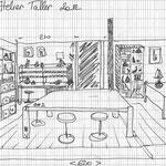 bientôt l'atelier de Taller, pas très grand mais il y aura tout ce qu'il faut.