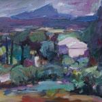 Landschaft bei Aix in der Provence, Öl/Lw, 50 x 70 cm