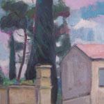 Frankreich/Landschaft bei Saint Paul,  Öl/Lw, 35 x 50 cm
