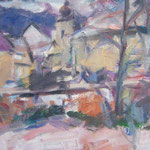 Schloß Pulgarn, Öl/Holz 35 x 49,5 cm
