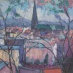 Blick auf Linz,  Öl/Holz, 40 x 55 cm