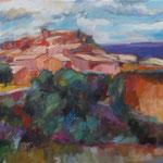 Frankreich/Rousillion,  Öl/Lw, 70 x 80 cm