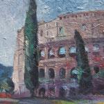 Rom/ Kolosseum,  Öl/Holz, 40 x 55 cm