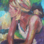 Bettina,  Öl/Lw, 50 x 35 cm
