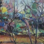 Aulandschaft,  Öl/Lw, 50 x 60 cm