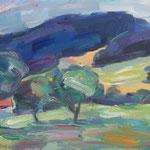 Landschaft bei Kitzbühel,  Öl/Lw, 30 x 40 cm