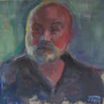Georg,  Öl/Holz, 30 x 30 cm