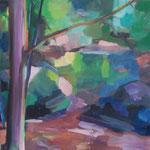 Feldaist bei Pregarten,  Öl/Lw, 50 x 50 cm