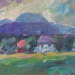 Blick zum Traunstein,  Öl/Lw, 40 x 60 cm
