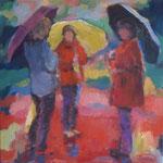 Regen in der Toscana,  Öl/Lw, 40 x 40 cm
