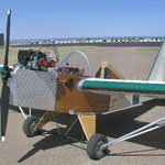 Bill Metcalf's vintage-look 1100R with a burnished metal front fuselage