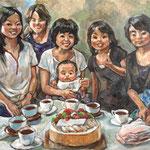 【途中経過】油絵肖像画群像2
