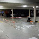 Cartographie au sol du parking souterrain