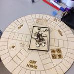 Eerste prototype gameboard voor de JOP/MBV gemaakt voor Jade.