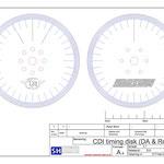 Timingschijven voor de DA50, getekend door SHDesigns!