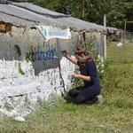 29 Mayo – Fabiola desarrollando la función artística.