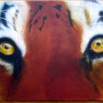 Tiger auf Leinwand