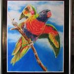 Papagei auf Ast