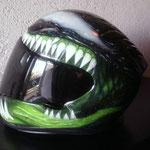 """Motoradhelm """"Venom"""" Seitenansicht"""