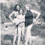 1955, Gerda Deman mit Tochter Ursula und Schwester Hilde