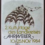 2. Plakat Kulturtage 1984