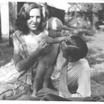 1943, Ursula mit ihren Eltern Gerda und Hans Deman in Rottach-Egern, Tegernsee