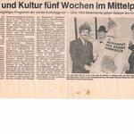1989, Ursula Krupp-Deman bei der Pressekonferenz zu den 4. Kulturtagen