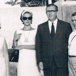 1962, Ursula mit Vater Hans Deman in Karachi, Pakistan