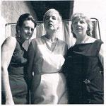 1964, mit Mutter Gerda Deman und Tante Hilde Stock-Sylvester am Lago Maggiore