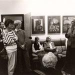 1988, Vernissage der Einzelausstellung in der Kanzlei Lemoine, Bonn