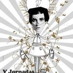Cartel de las Jornadas de diseño gráfico de la Escuela de Arte de Huesca