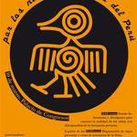 Cartel para las Jornadas solidarias de Perú.