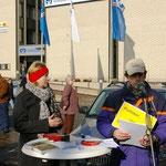 Monika Kirschner (Soonwald-Initiative) und Peter Fischer (NABU)