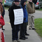 Demonstrant am Ausoniusweg