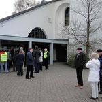 Besucher des Gottesdienstes