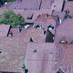 Roofs and tiles of old town Laufenburg