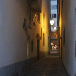 Dark and narrow alleys by night