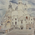 Santa Maria della Salute, Otto Eberhardt, Aquarell, Papier, ID1503