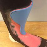 Anfertigung individueller Skischuhlasche (Zunge)